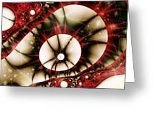 Dragon Eye Greeting Card by Anastasiya Malakhova