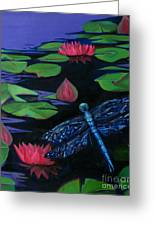 Dragon Fly - Botanical Greeting Card by Grace Liberator