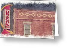 Dragon Inn Restaurant Sign Greeting Card by Liane Wright