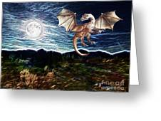 Dragon Night Greeting Card by Methune Hively