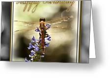 Dragonfly Birthday Card Greeting Card by Carolyn Marshall