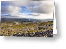 Dramatic Landscape of the Aran Islands Greeting Card by Mark Tisdale
