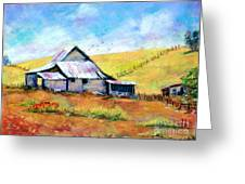 Drapper Valley Barn Greeting Card by Bruce Schrader