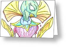 Drawing Abstract Creation Greeting Card by Minding My  Visions by Adri and Ray