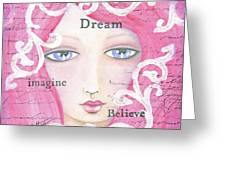 Dream Girl Greeting Card by Joann Loftus