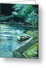 Dream Lake Greeting Card by Anil Nene