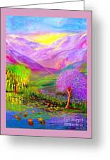 Dream Lake Greeting Card by Jane Small