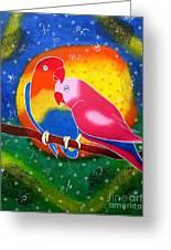 Dream Life-whimsical Painting Greeting Card by Priyanka Rastogi