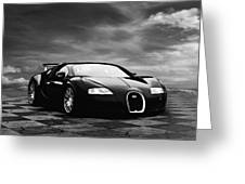 Dream Machine Bw Greeting Card by Peter Chilelli