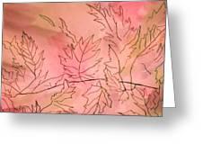 Dreaming Of Leaves Greeting Card by Anne-Elizabeth Whiteway