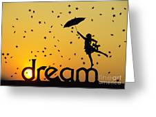 Dreaming Greeting Card by Tim Gainey