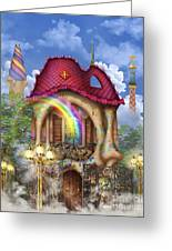 Dreams Of Gaudi Greeting Card by Ciro Marchetti