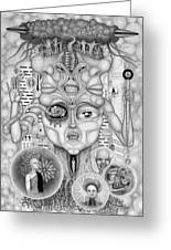 Dreams Of The Deity Greeting Card by Kris Milo