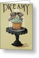 Dreamy Cupcake Greeting Card by Catherine Holman