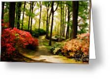 Dreamy Path Greeting Card by Lois Bryan