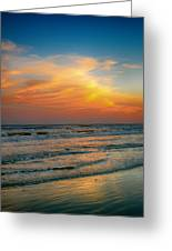 Dreamy Texas Sunset Greeting Card by Kristina Deane
