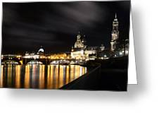 Dresden At Night Greeting Card by Steffen Gierok
