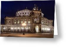 Dresden Semperopera Greeting Card by Steffen Gierok