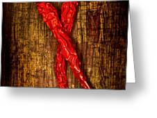 Dried pepperoni Greeting Card by Shawn Hempel