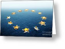 Drifting Europe Greeting Card by Carlos Caetano