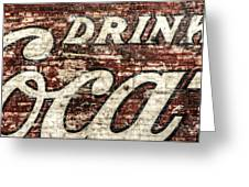 Drink Coca-cola 2 Greeting Card by Scott Norris