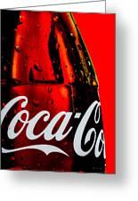Drink Coca Cola Greeting Card by Bob Orsillo