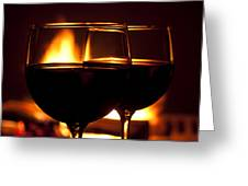 Drinks By The Fire Greeting Card by Andrew Soundarajan
