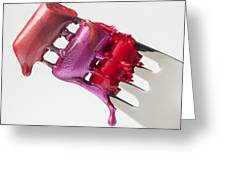 Dripping Lipstick Greeting Card by Garry Gay