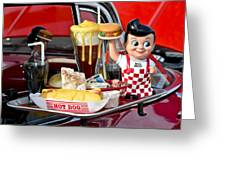 Drive-in Food Classic Greeting Card by Carolyn Marshall