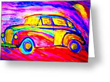 Driving Home Greeting Card by Hilde Widerberg