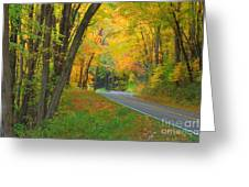 Driving Into Fall Greeting Card by Geraldine DeBoer