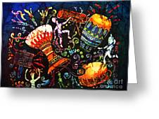 Drumbeat Greeting Card by Sue Duda