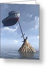 Dry Dock Greeting Card by Cynthia Decker