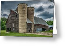 Dual Silos Greeting Card by Paul Freidlund