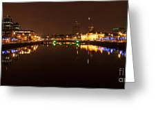 Dublin City At Night Greeting Card by Paul O Rourke