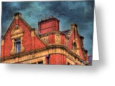 Dublin House Roof Top Greeting Card by Juli Scalzi