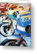Ducati Line Greeting Card by Guenevere Schwien