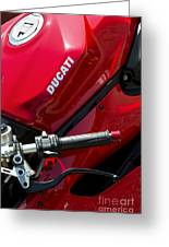 Ducati Red Greeting Card by Tim Gainey