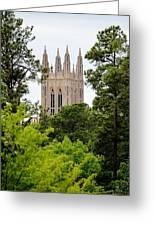 Duke Chapel Greeting Card by Cynthia Guinn