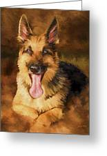 Duke Greeting Card by David Wagner