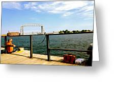 Duluth Docks Greeting Card by Danielle  Broussard