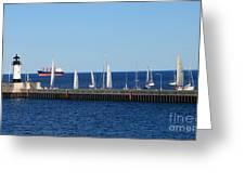 Duluth Mn Harbor Greeting Card by Lori Tordsen