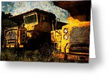 Dump Trucks Greeting Card by Amy Cicconi