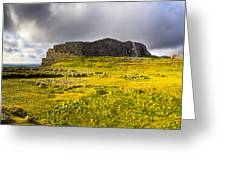 Dun Aonghasa - Iron Age Irish Ruins Greeting Card by Mark Tisdale