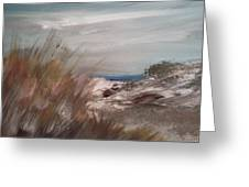 Dune Overlook Greeting Card by Joseph Gallant