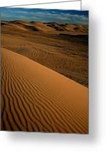Dune Sunset Greeting Card by Scott Cunningham