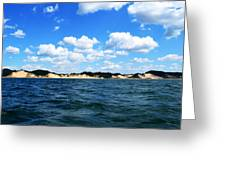 Dunes And Lake Michigan Greeting Card by Michelle Calkins