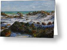 Dunes At Fort Pickens Greeting Card by Theresa Grillo Laird