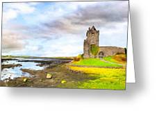 Dunguaire Castle In County Galway Ireland Greeting Card by Mark Tisdale