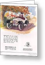 Dunlop 1919 1910s Uk Cars Tyres Greeting Card by The Advertising Archives